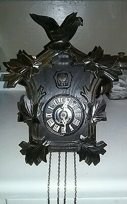 Vintage Mi-Ken Cuckoo Coo Coo Clock AS IS NO PENDULUM  NO WEIGHTS Made in Japan