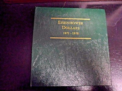 Littleton Coin Album Ike Dollars 17 Coins with 1971s 1972s & 1973s Silver Proofs
