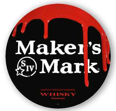 Makers Mark Kentucky Straight Bourbon Whisky - Metal Sign - Free Shipping