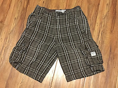 Boys THE CHILDREN'S PLACE Plaid Shorts Brown White  Size - 6