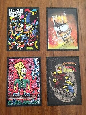 The Simpsons ARTY ART SET Very Rare 1994 Skybox Series 2 Trading Cards