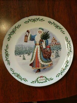 LENOX 1994 CHRISTMAS International Victorian Santas Grandfather Frost Plate