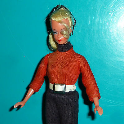 Rare Vintage Orig Small German Bild Lilli Doll In Orig Outfit - Nmint Doll!