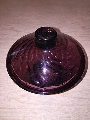 amethyst swirl design covered candy dish