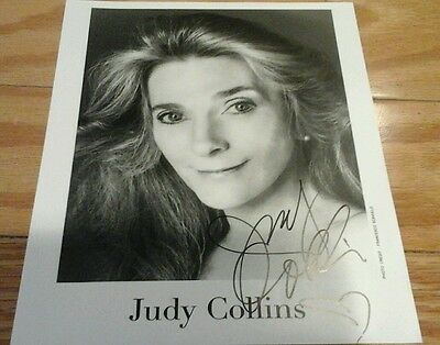 Autographed Judy Collins Photo