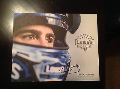 2016 Champion Jimmie Johnson Lowes Driver Card Signed By Jimmie