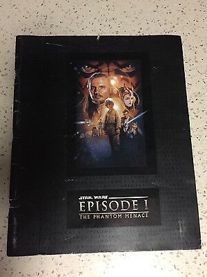 STAR WARS EPISODE 1 The Phantom Menace Collectable LARGE MOVIE PREMIERE PROGRAM