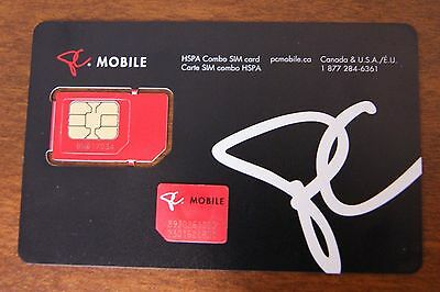 PC Mobile Canada Standard Micro SIM CARD (New )