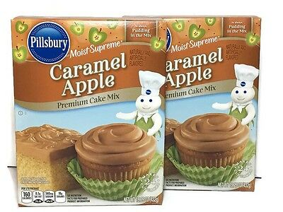PILLSBURY Caramel Apple Premium Cake Mix 2 Boxes 15.25 Oz Moist Supreme