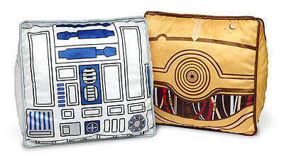 Star Wars Throw Pillow Set - R2-D2 & C-3PO PILLOWS - R2-D2 PILLOW & C3PO PILLOW