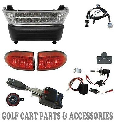 Club Car Precedent Golf Cart  LED Deluxe Head Light Kit (Electric 2004- 08.5)