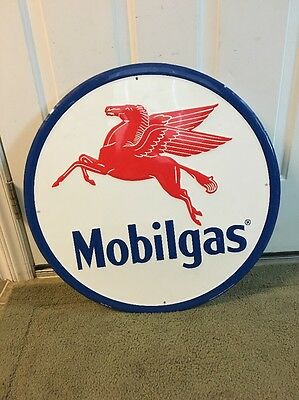 """Mobilgas Advertising Sign Mobil Gas And Oil 23"""""""