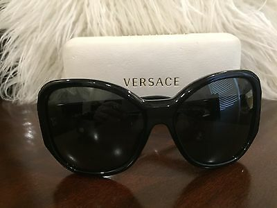 Versace Mod. 4156B GB1/87 60mm Black w/ precious stones Authentic Sunglasses