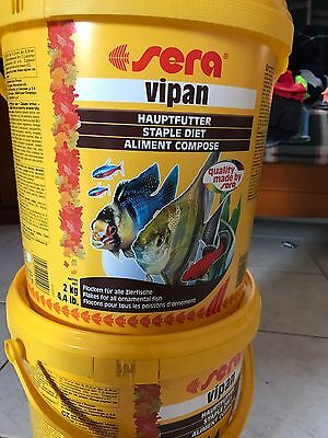 fish food flakes Sera Vipan Cichlids Tropical Fish Food Aquarium 2.2kg Bucket