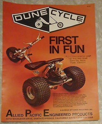 1970s DUNE CYCLE FIRST IN FUN ALLIED PACIFIC ENGINEERING PRODUCTS COLOR BROCHURE