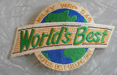 Vintage Adv Patch Milky Way Candy Bar Worlds Best Selling Bar