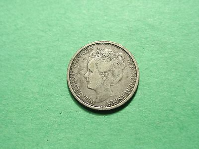 Netherlands 10 Cents 1905 Scarce Silver Coin