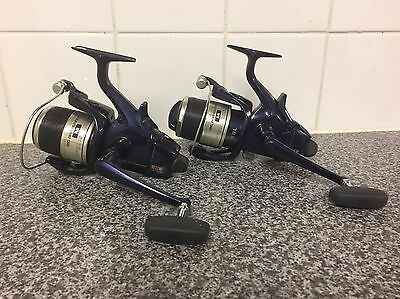 ULTRA Rare Pair Of Shimano Big Blue M Baitrunners Never Used Mint Condition