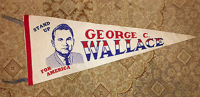 Vintage Full Size Pennant George Wallace Stand up for America with Tassles