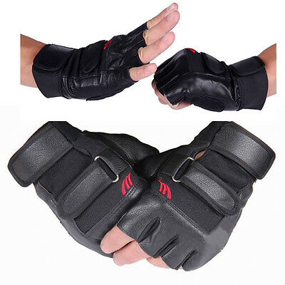 Weight Lifting Gloves Gym Workout Wrist Wrap Sport Exercise Training Fitness