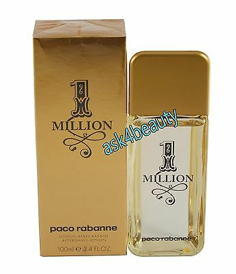 1 Million By Paco Rabanne 3.4oz/100 ml After Shave Lotion For Men New In Box