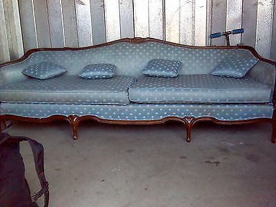 Antique French Louis XV or XVI STYLE SOFA EX/CON 7FTX3X4 WEIGH ABOUT 150-200 LBS