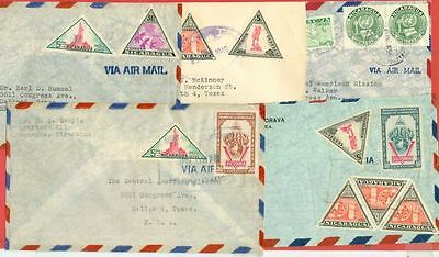Nicaragua 5 Diff commercial cover Including Triangle to USA Lot#3434