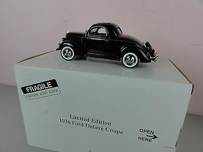 Danbury Mint 1936 Ford Deluxe Coupe 1:24 Limited Edition in Black w/ Box