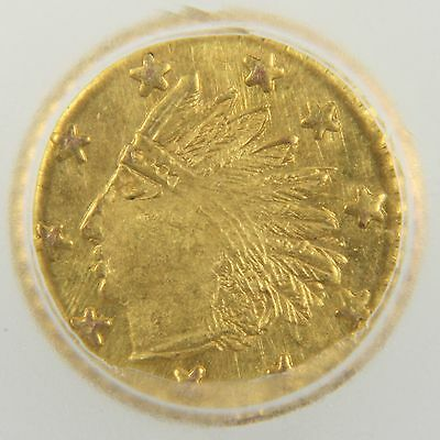 1853 California Gold Token Charm - Round Indian (MS64 PL)
