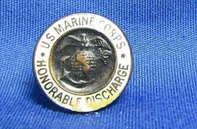 WWI Era 1920s USMC China Marine Droop Wing EGA Honorable Discharge Button