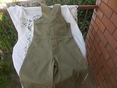 Rivers Action Back Khaki  Cotton Drill Overalls Size 30