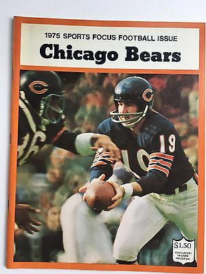1975 Chicago Bears Sports Focus Football Yearbook
