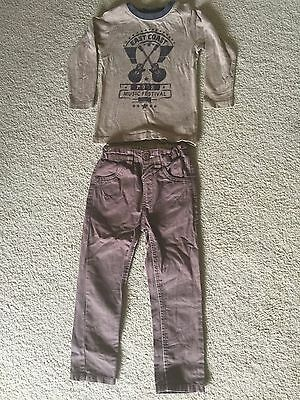 Boys Size 2 Pumpkin Patch Pants and Matching Top