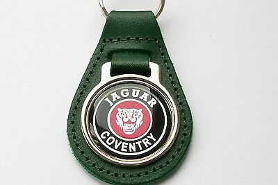Jaguar Coventry Keyring Green Leather Keyring, Key Chain, Key Fob