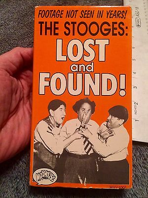 RARE The Three Stooges Unseen Film Video footage 1947 TV Pilot + live act VHS