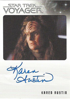 Quotable Star Trek Voyager Autograph Karen Austin As Miral Very Limited