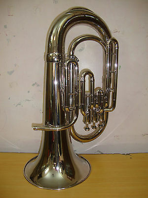 BRAND NEW SILVER NICKEL PLATED Bb FLAT EUPHONIUM WITH FREE HARD CASE+MOUTHPIECE