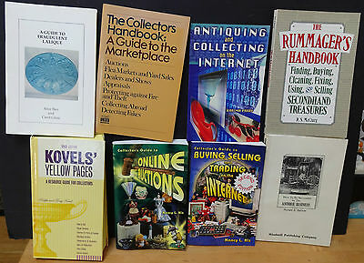 Lot of 8 INTERNET ANTIQUING, BUYING & SELLING on the INTERNET, ONLINE AUCTIONS +