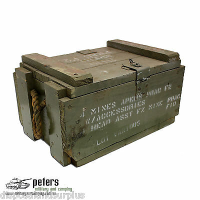 Ex Army Mine Apers Box With Rope Handles, Ex Aust Army, Mine Apers Ammo Box