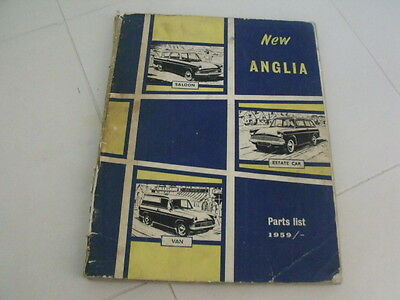 Ford Anglia manual parts list -vintage- Microcar