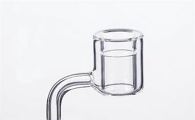 100% Quartz Banger 14 Male Thermal Clear USA With Rotational Carb Cap