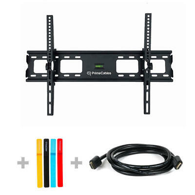 "LCD LED Plasma TV Wall Mount Screen Bracket Tilt 37""-70""+HDMI Cable+Ties Gift"