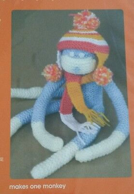 New! The Little Experience Knit It Toy Monkey Knitting Kit For Ages 8 & Up
