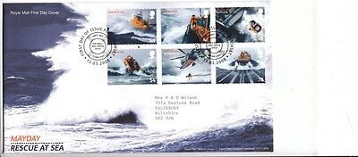 FDC Mayday Rescue at Sea 2008, Royal Mail First Day Cover