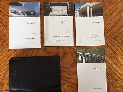 2010 Lexus GS460/GS350 With Navigation Owner's Manuals Stock #219