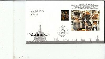 FDC St Paul's Cathedral 2008, Royal Mail First Day Cover