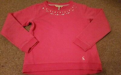Joules Girls Pink Jumper Sweater Age 7-8 Years