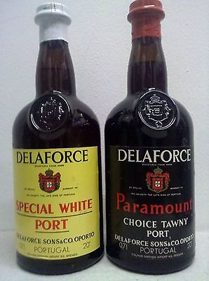 Delaforce Paramount Choice Tawny Port und Special White Port ca. 1970