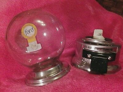 vintage Ford 10 Cent Gumball Machine glass Globe