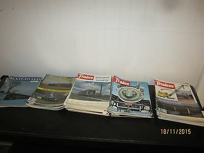 56 x Railway Train magazines 1972-1981 Bidding starts at just 5 cents each issue